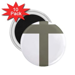 Cross Of Lorraine  2 25  Magnets (10 Pack)
