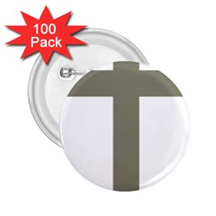 Cross Of Lorraine  2 25  Buttons (100 Pack)