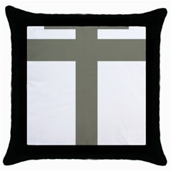 Cross Of Lorraine  Throw Pillow Case (black)