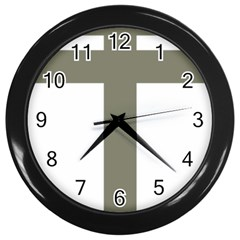 Cross Of Lorraine  Wall Clocks (black)