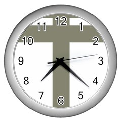 Cross Of Lorraine  Wall Clocks (silver)