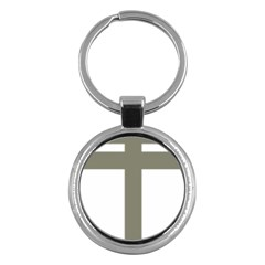 Cross Of Lorraine  Key Chains (round)