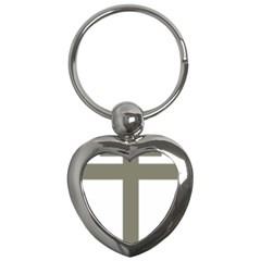 Cross Of Lorraine  Key Chains (heart)