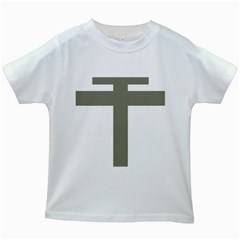 Cross Of Lorraine  Kids White T Shirts