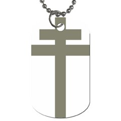 Cross Of Lorraine  Dog Tag (two Sides)