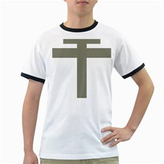 Cross Of Lorraine  Ringer T Shirts