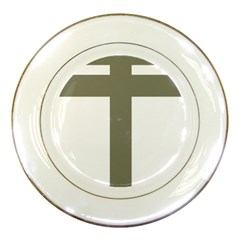 Cross of Lorraine  Porcelain Plates