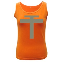Cross Of Lorraine  Women s Dark Tank Top
