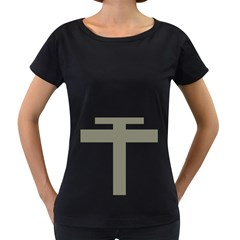 Cross Of Lorraine  Women s Loose Fit T Shirt (black)
