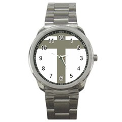 Cross Of Lorraine  Sport Metal Watch