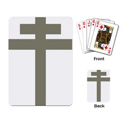 Cross Of Lorraine  Playing Card