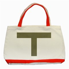 Cross Of Lorraine  Classic Tote Bag (red)