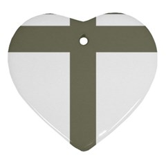 Cross Of Lorraine  Heart Ornament (two Sides)