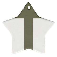 Cross Of Lorraine  Star Ornament (two Sides)