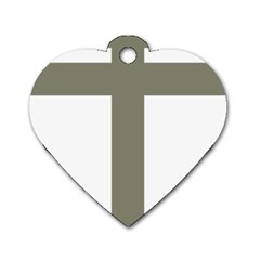 Cross Of Lorraine  Dog Tag Heart (two Sides)