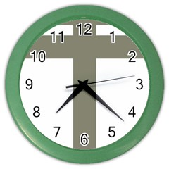 Cross Of Lorraine  Color Wall Clocks