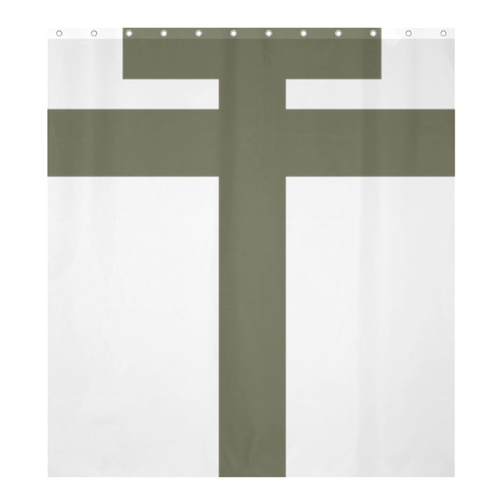 Cross of Lorraine  Shower Curtain 66  x 72  (Large)