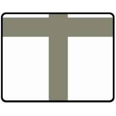 Cross Of Lorraine  Fleece Blanket (medium)