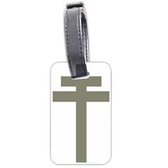 Cross Of Lorraine  Luggage Tags (two Sides)