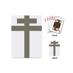 Cross Of Lorraine  Playing Cards (mini)