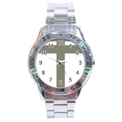 Cross Of Lorraine  Stainless Steel Analogue Watch