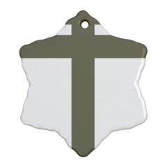 Cross Of Lorraine  Ornament (snowflake)
