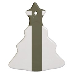 Cross of Lorraine  Christmas Tree Ornament (Two Sides)