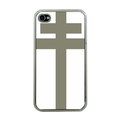 Cross Of Lorraine  Apple Iphone 4 Case (clear)