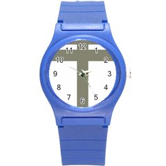 Cross Of Lorraine  Round Plastic Sport Watch (s)