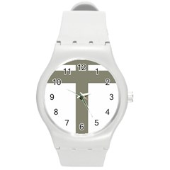 Cross Of Lorraine  Round Plastic Sport Watch (m)