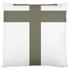 Cross Of Lorraine  Large Cushion Case (two Sides)