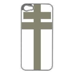 Cross of Lorraine  Apple iPhone 5 Case (Silver)