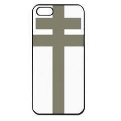 Cross Of Lorraine  Apple Iphone 5 Seamless Case (black)