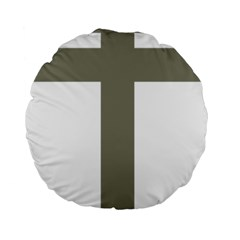 Cross Of Lorraine  Standard 15  Premium Round Cushions