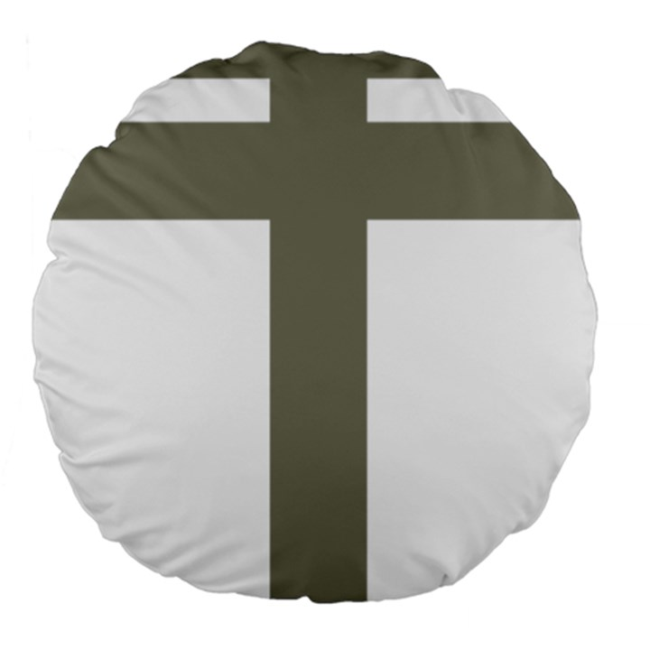 Cross of Lorraine  Large 18  Premium Round Cushions