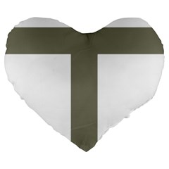 Cross of Lorraine  Large 19  Premium Heart Shape Cushions