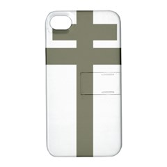 Cross Of Lorraine  Apple Iphone 4/4s Hardshell Case With Stand