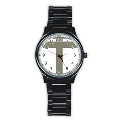 Cross of Lorraine  Stainless Steel Round Watch