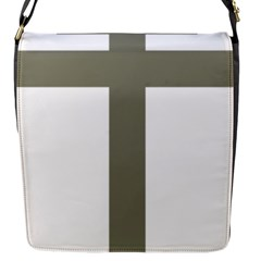 Cross Of Lorraine  Flap Messenger Bag (s)