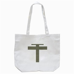 Cross Of Lorraine  Tote Bag (white)