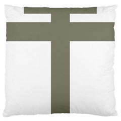 Cross Of Lorraine  Large Flano Cushion Case (one Side)