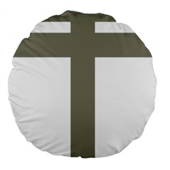 Cross Of Lorraine  Large 18  Premium Flano Round Cushions