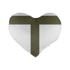 Cross Of Lorraine  Standard 16  Premium Flano Heart Shape Cushions