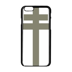 Cross Of Lorraine  Apple Iphone 6/6s Black Enamel Case
