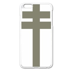 Cross Of Lorraine  Apple Iphone 6 Plus/6s Plus Enamel White Case