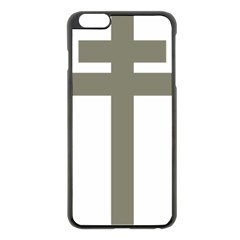 Cross Of Lorraine  Apple Iphone 6 Plus/6s Plus Black Enamel Case