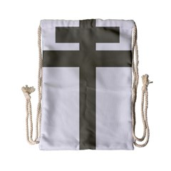 Cross Of Lorraine  Drawstring Bag (small)