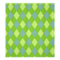 Plaid pattern Shower Curtain 66  x 72  (Large)