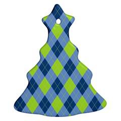 Plaid Pattern Ornament (christmas Tree)