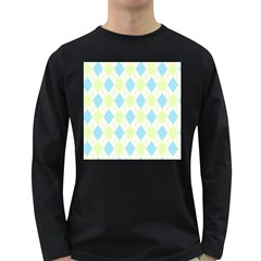 Plaid pattern Long Sleeve Dark T-Shirts